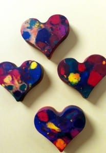 Home-made Crayons - things to do for Valentine's with kids
