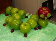"""""""Hungry Caterpillar made of fruit"""""""