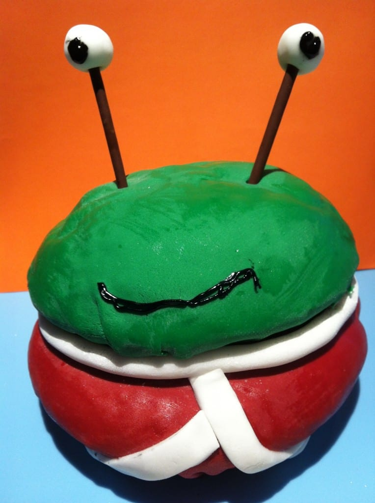 """Alien's love underpants cake"""