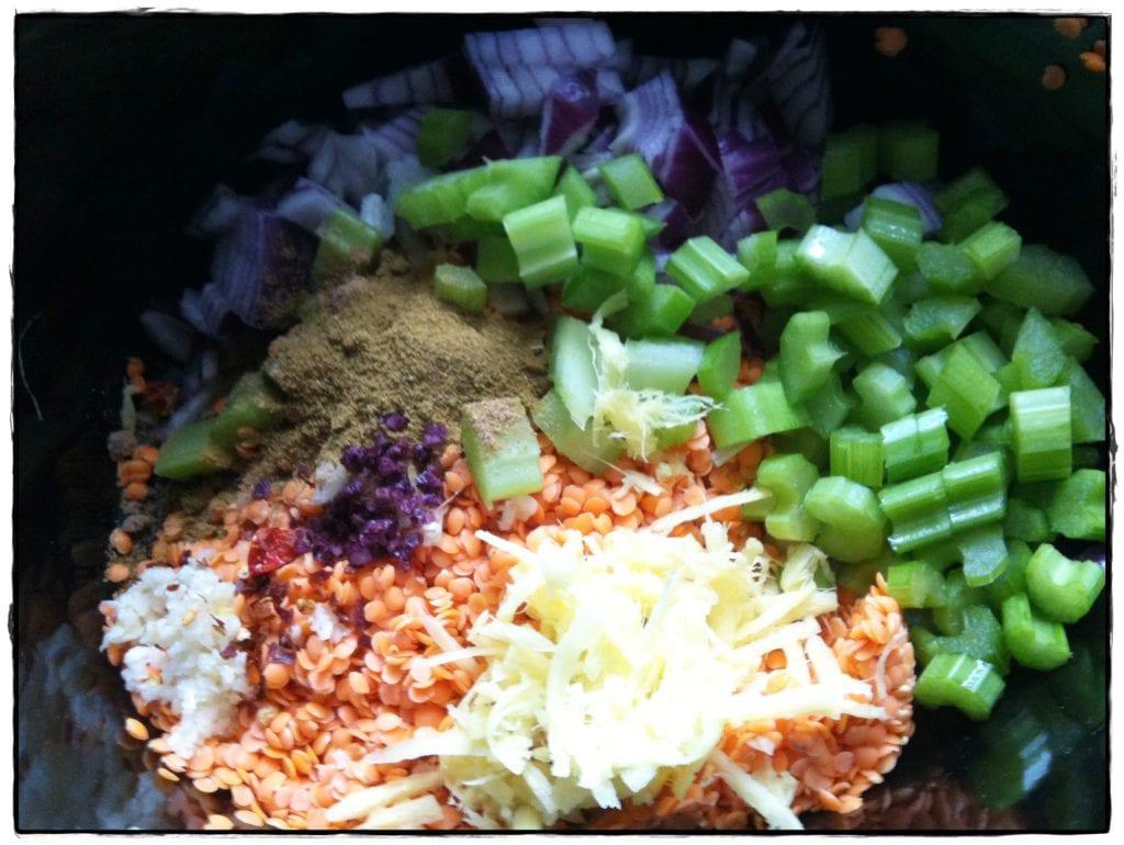 Super simple slow cooker Lentil Curry recipe