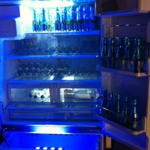 """fridge full of champagne"""