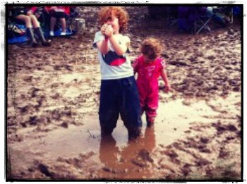 """forest school gets muddy"""