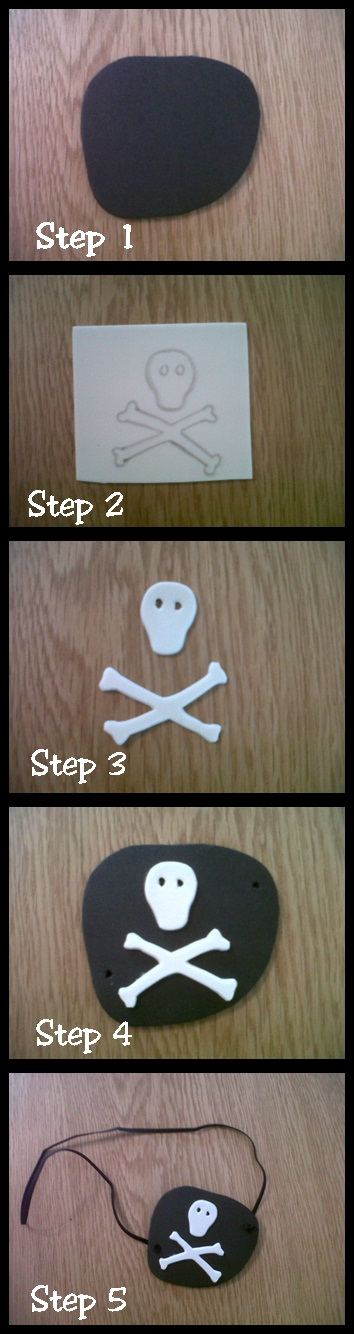 how to make pirate eye patch