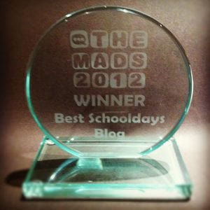 """MAD Blog Awards Trophy"""