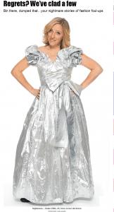 """silver ballgown in the Sun"""