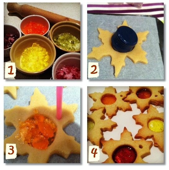 """edible decoration recipe stained glass biscuits"""