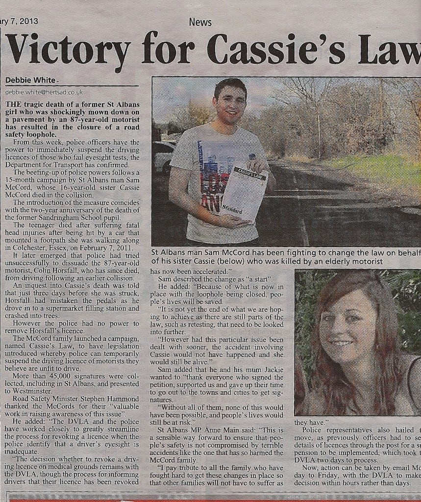 """Cassie's Law"""