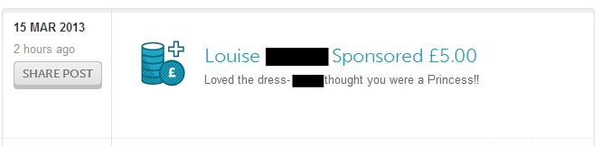 Louise sponsored