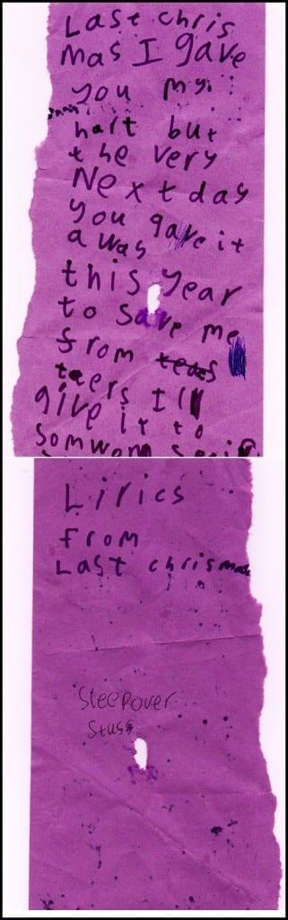 """""""lyrics to Last Christmas"""""""
