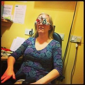 """Having a sight test"""