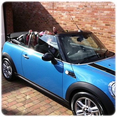 """mini cooper cabriolet kite blue"""