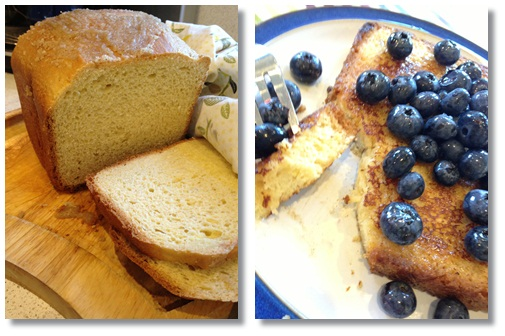 Brioche French Toast with Blueberries and Maple Syrup