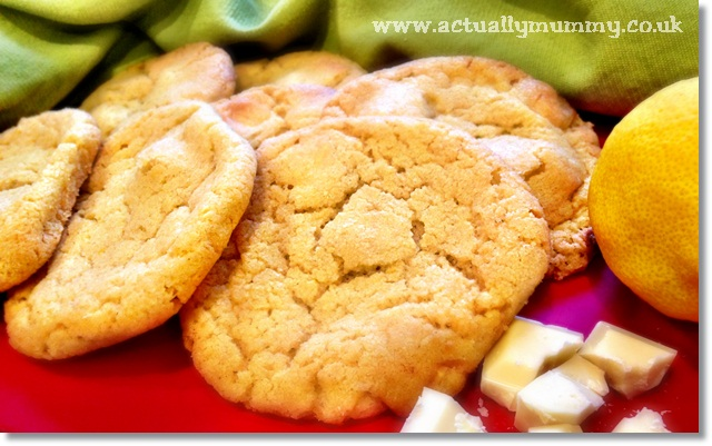 Chewy lemon and white chocolate egg yolk cookies - a delicious way to use up leftover egg yolks