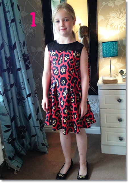 Leopard print skater dress from River Island Girls for the Mad Blog Awards