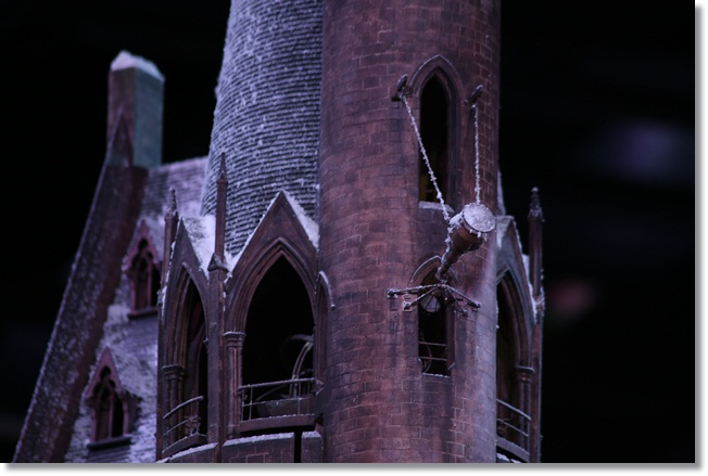Hogwarts at Christmas: Dumbledore's telescope covered in snow