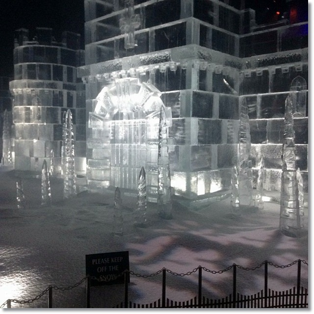 Winter Wonderland - impressive (and cold!) Ice Castle