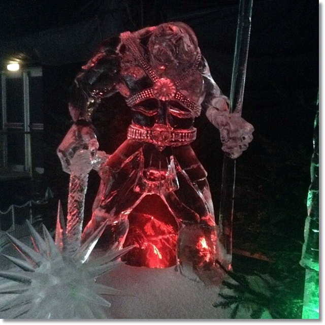 Winter Wonderland - magnificent Ice Sculptures - is this a Skylander?