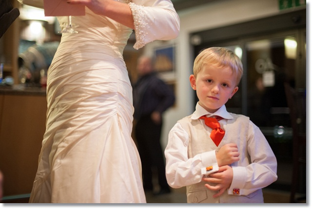 Wedding photos: The Bug shows off his grown up cufflinks