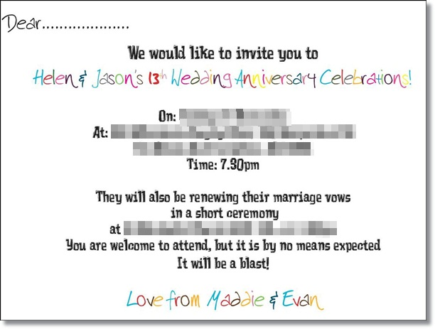 Personalised invites - say whatever you want in any design you choose!