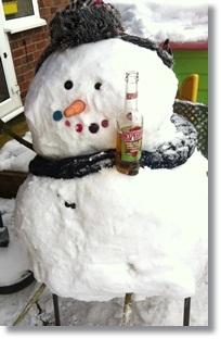 Build an epic snowman on a #MarkWarnerMum ski holiday