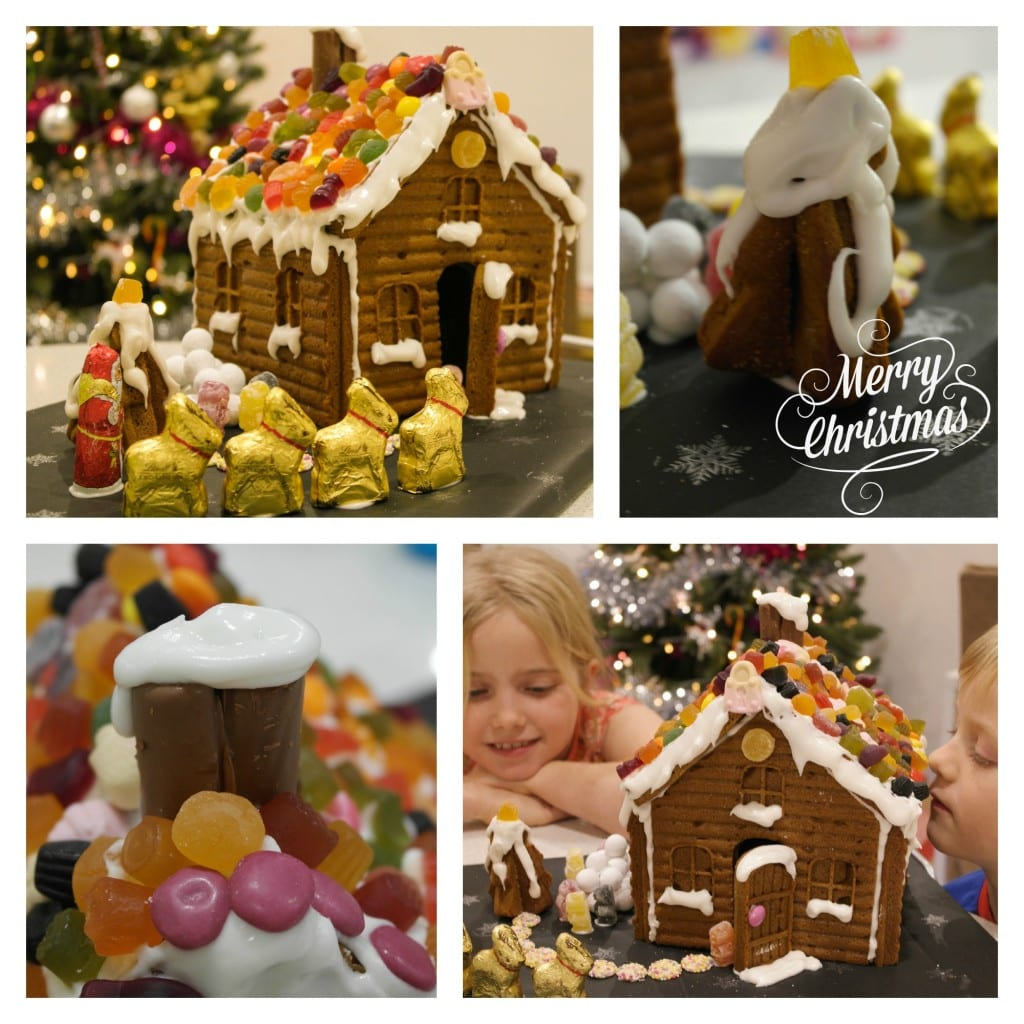 Our homemade gingerbread house. Made with love, joy and festive hope