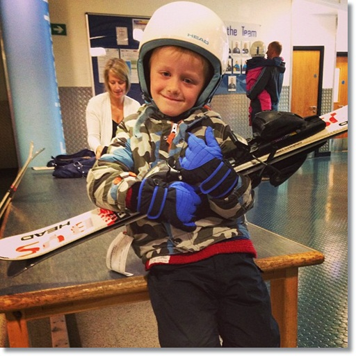 The Bug is finally ready to ski - we need a family skiing holiday!