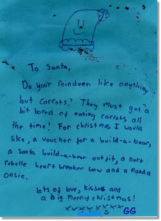 GG's letter to Santa