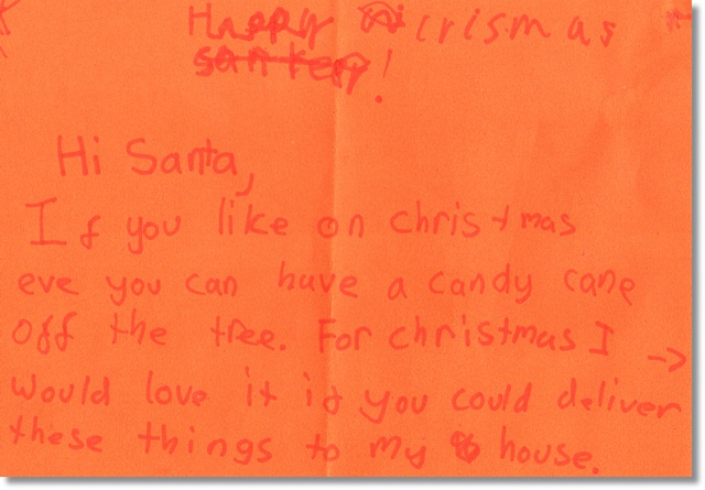 The Bug's letter to Santa