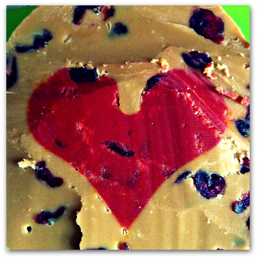 Heart shaped fudge slabs - perfect Valentine's gift (provided you can bear to part with it)!