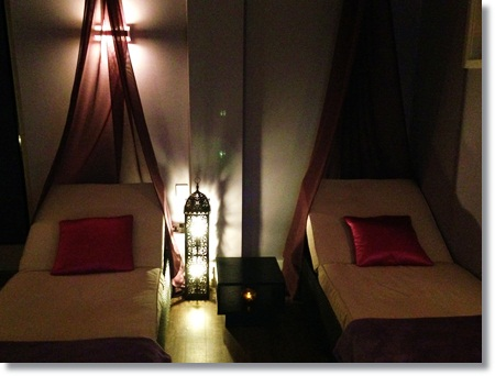 Beautiful relaxation room at Congham Hall Hotel's Secret Garden Spa