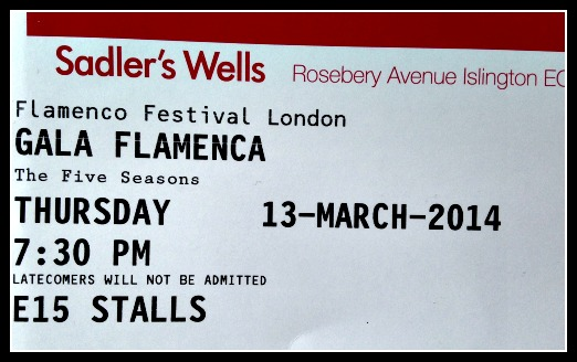 First trip to Sadlers Wells for both of us!
