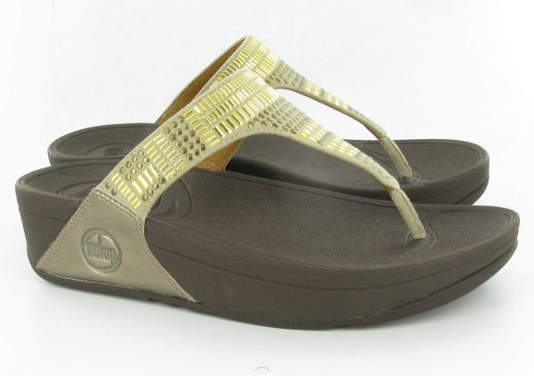 Gorgeous gold Aztec FitFlops