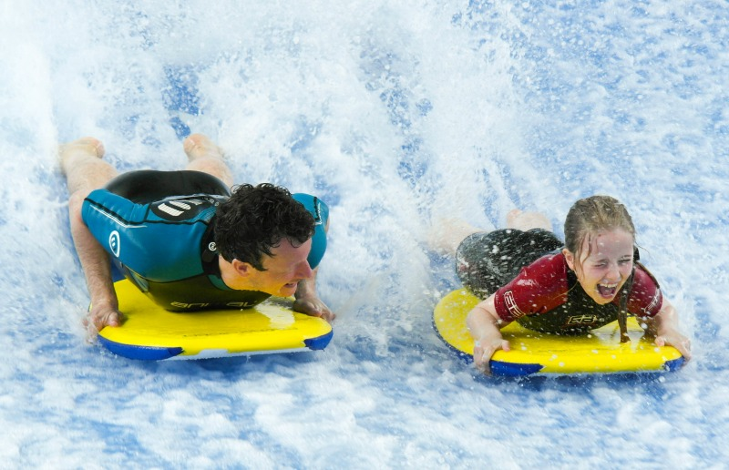My two thrillseekers on the Flowrider