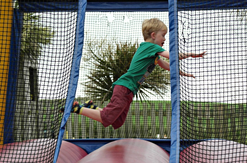 Children's play equipment at the Sands Resort in Cornwall is great!