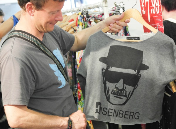 We found a Heisenberg t-shirt at Brick Lane