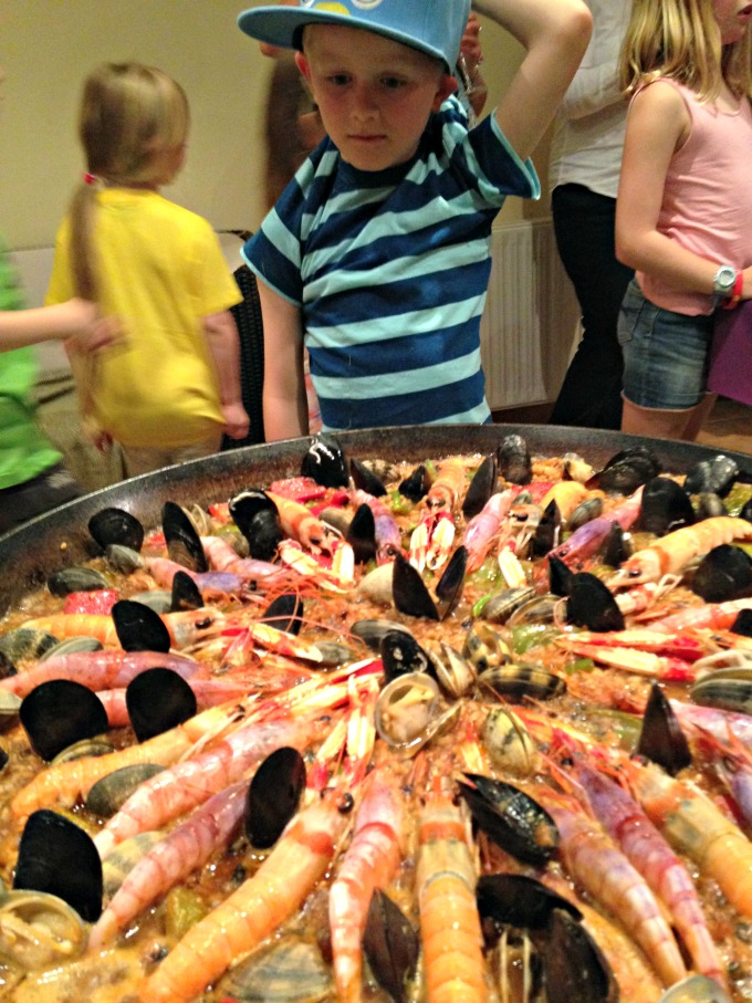 Catalan food - Surf and Turf Paella