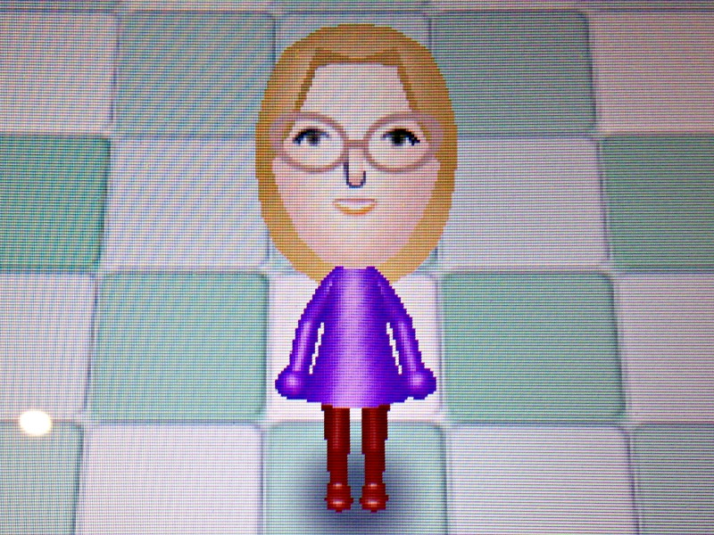 Creating a Mii on Nintendo 3DS XL