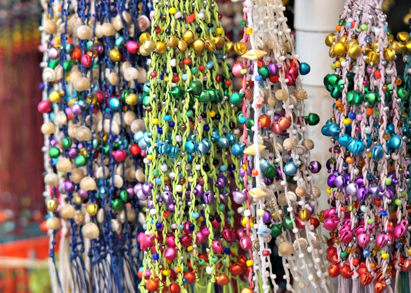 Beaded bracelets in L'Estartit