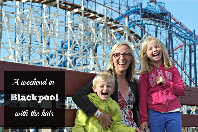 Family at Blackpool Pleasure Beach