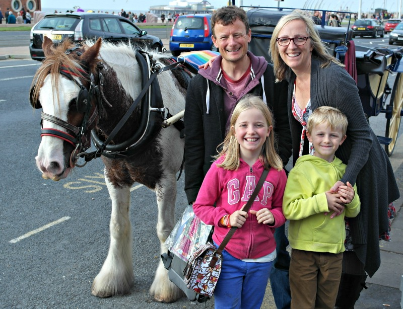 Take a horse and trap ride along Blackpool Promenade