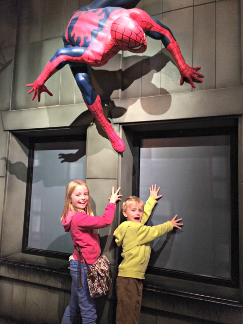 Climbing the walls with Spiderman at Madame Tussauds Blackpool