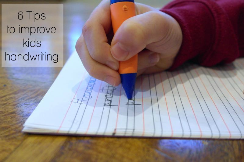 6 Tips for improving your child's handwriting