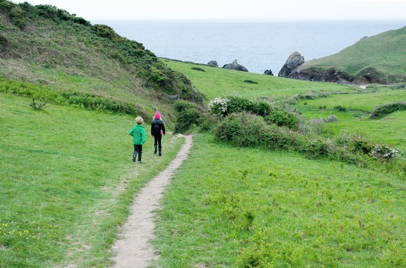 Beautiful walk down to Soar Mill Cove