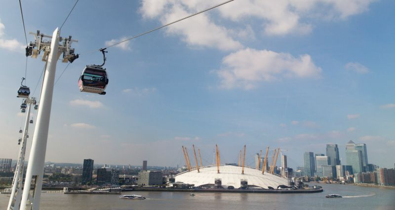 Take a ride over the River Thames on the Emirates Airline cable car, then head back up to London on the Thames Clippers river boats
