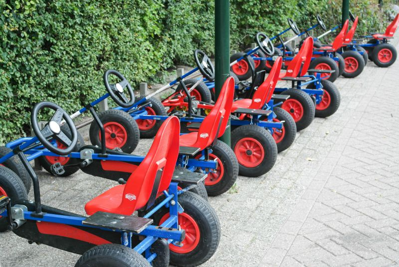 Hire a go-kart from Duinrell's on site bike hire centre and give the kids the run of the park