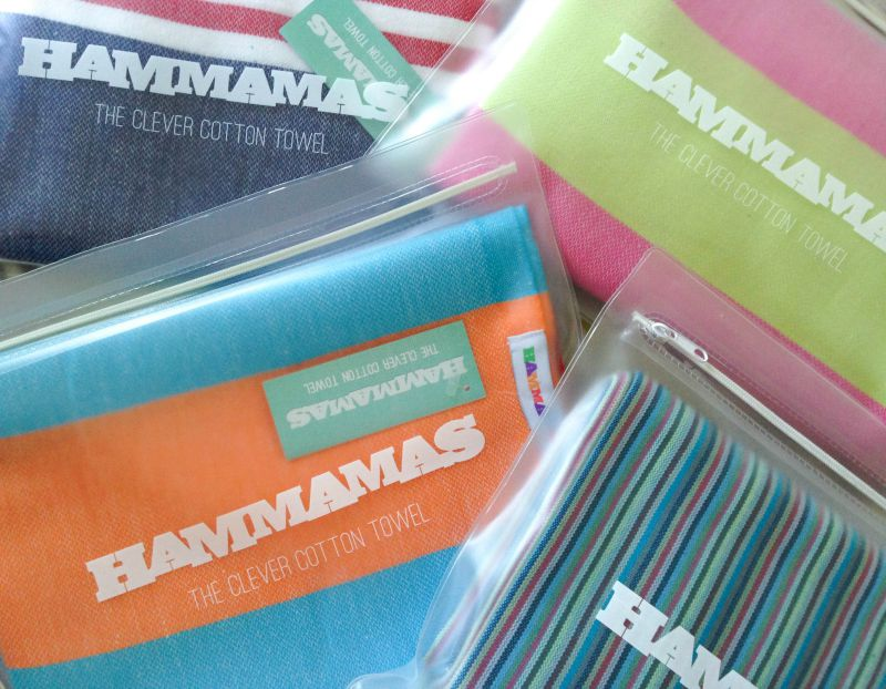 Colourful but clever Hammam towels are the solution to space-saving on your holiday packing
