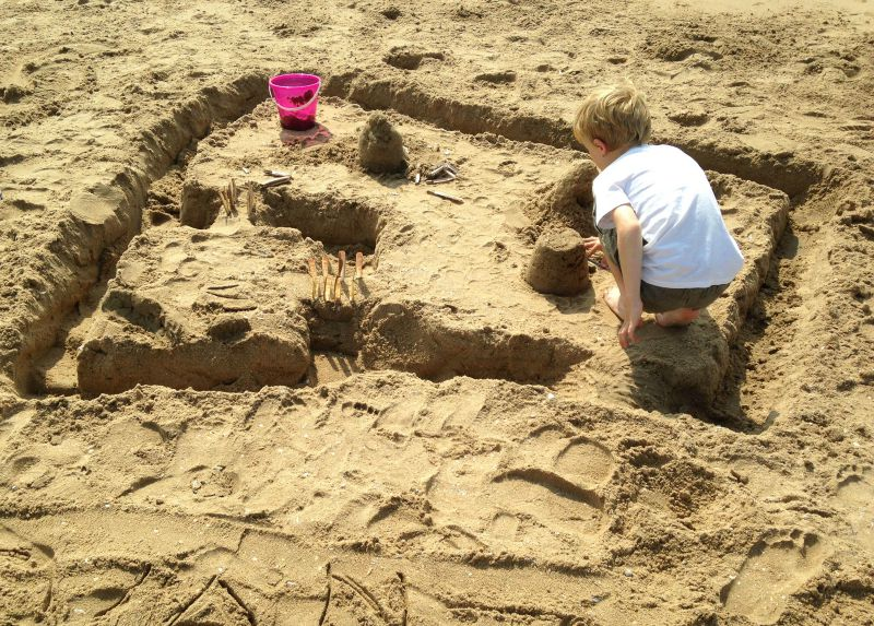 Wassenaarseslag, the local beach to Canvas Holidays Duinrell holiday park, is perfect for sandcastles