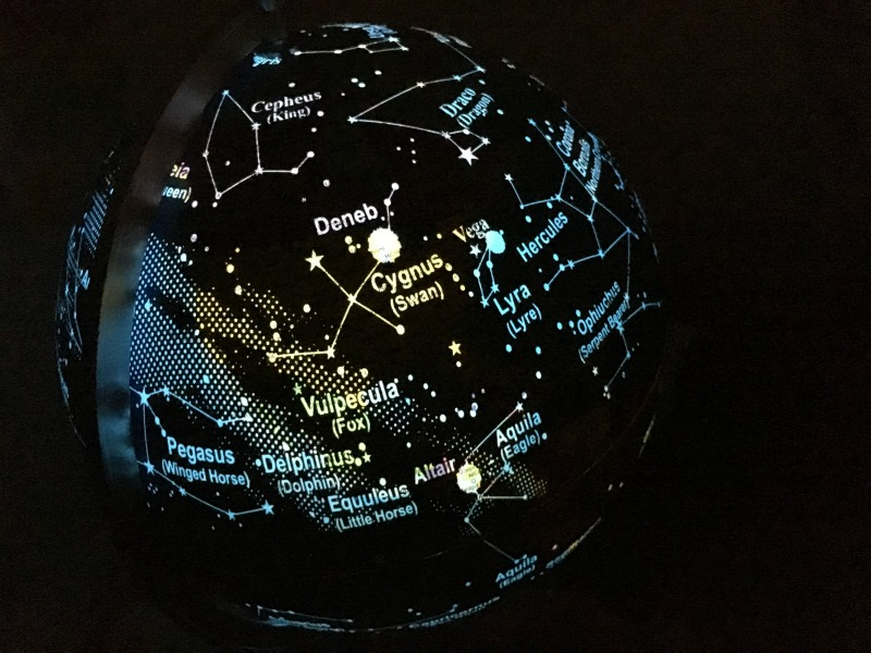 A globe to inspire a love of travel and the stars