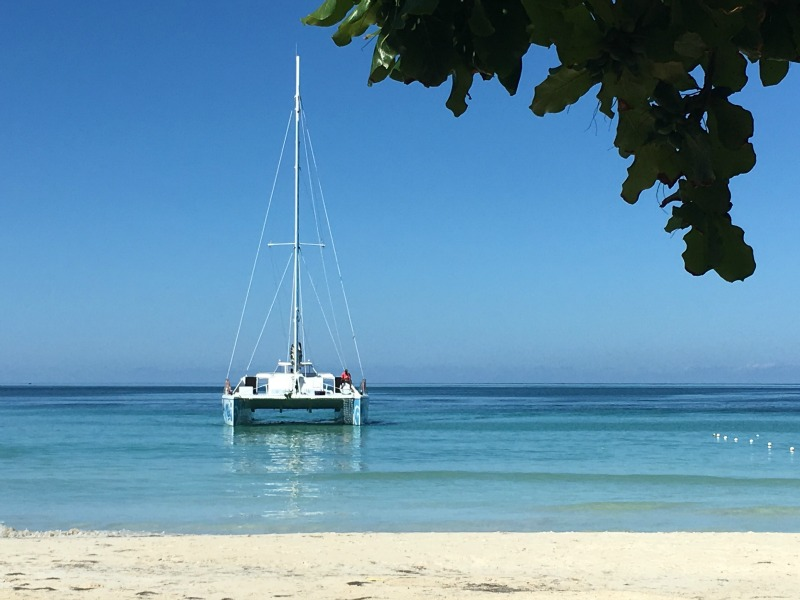 A Reggae Catamaran, and a Dolphin Kiss at Beaches Negril