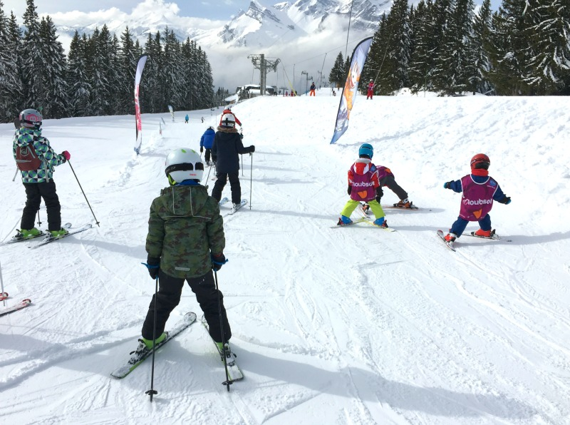 Keeping children safe on a ski holiday - use the 'zone tranquille' or quiet areas